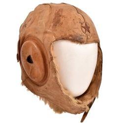 WWII Imperial Japanese Fur Lined Flight Helmet