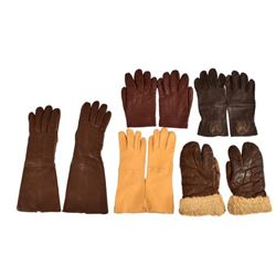 Collection of U.S. Army Air Corps Flying Gloves