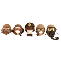 5 U.S. Army Air Forces Flight Helmets
