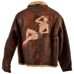 WWII D-1 Leather Bomber Jacket Lt. R.M. McNutt