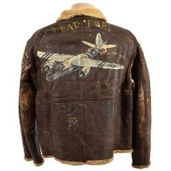 """WWII """"Bad Dog"""" D-1 Bomber Jacket 9th Air Force"""