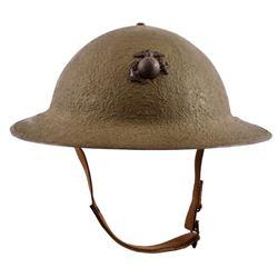 USMC M1917 Helmet Wake Island Defense Battalion