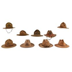 Collection of (9) USMC Stetson Type Campaign Hats