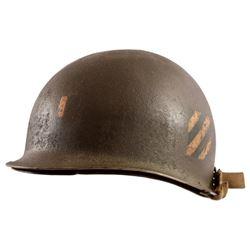 WWII U.S. Army 3rd Infantry Lieutenant M-1 Helmet