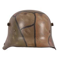 WWI Imperial German Camouflage Helmet