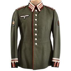 WWII Nazi German Green Wermacht Tunic Edelweiss