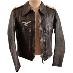 WWII Nazi German Leather Luftwaffe Pilot Jacket
