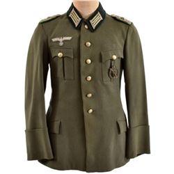 Nazi 37th Jager Light Infantry Major Dress Tunic