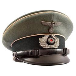 WWII Nazi German Wermacht Visor Cap