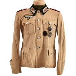 WWII Nazi German Wermacht Officer's Tropical Tunic