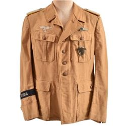 WWII Nazi German Afrika Korps Brown Tunic