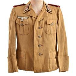 WWII Nazi German Afrika Korps Tan Tunic