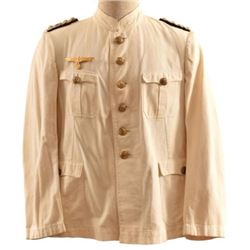WWII Nazi German Navy Officers White Tunic