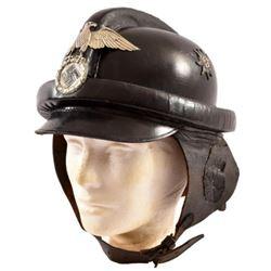 Nazi German Third Reich Leather Motorcycle Helmet