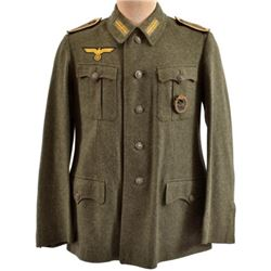 WWII Nazi German Navy Green Flak Artillery Tunic