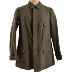 WWII Nazi German Long Green Wool Overcoat