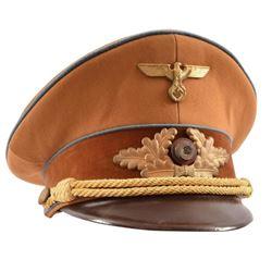 WWII Nazi German Political Officers Visor Cap