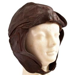 WWII Imperial Japanese Leather Flight Helmet