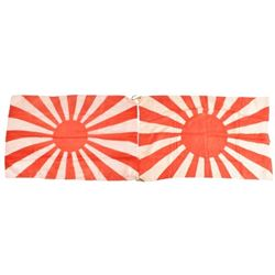 WWII Japanese Rising Sun Silk Flags (2)