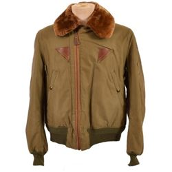 WWII USAAF B-15 A Green Cloth Flying Jacket