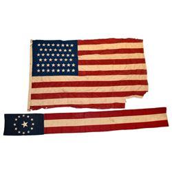 US 46 Star Flag & US Naval Banner