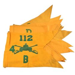 Collection of 6th Tank Battalion Guidon Flags