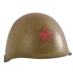 WWII Soviet Red Army M52 Helmet & Liner