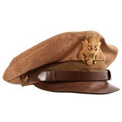 Pre-WWII U.S. Army Burlap Tropical Visor Cap