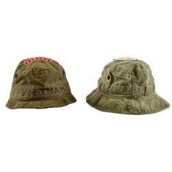 Two U.S. Vietnam Embroidered Jungle Hats
