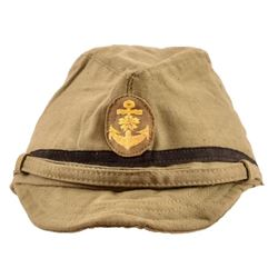 WII Imperial Japanese Navy Khaki Service Cap