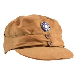 WWII Chinese Nationalist Army Tan Field Cap