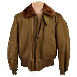 WWII U.S. B-15 Cloth Flying Jacket with Fur Lining