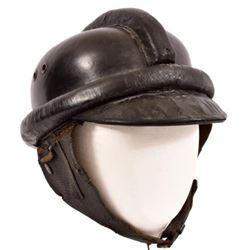 WWII Nazi German Leather Motorcycle Helmet
