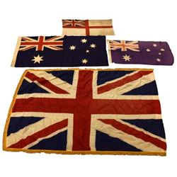 WWII British & New Zealand Flags
