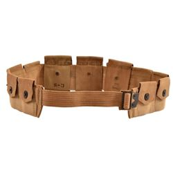 US WWI Army Web Belt with Slide Buckle 1918