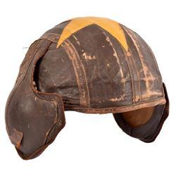 WWII USAAF M-4 Leather Covered Flak Helmet
