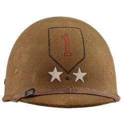 WWII U.S. Major General Huebner M-1 Helmet Liner