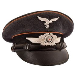 WWII Nazi German Luftwaffe Visor Cap
