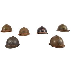 WWII 6 French Helmets