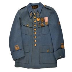 WWI Horizon Blue French Tunic & Medals
