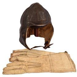 WWII Royal Air Force Flying Helmet & Gauntlets