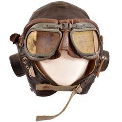 WWII RAF Type-C Leather Flight Helmet & Goggles