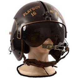 """U.S. Vietnam Era Flight Helmet """"Playboy 16"""""""