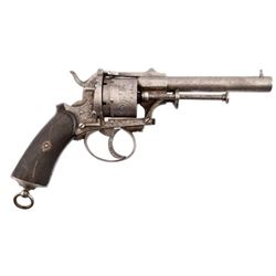 Engraved Pinfire Revolver