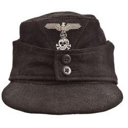 WWII Nazi German SS Panzer M43 Field Cap