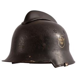 WWII Nazi M1934 Helmet Fire Police Double Decal