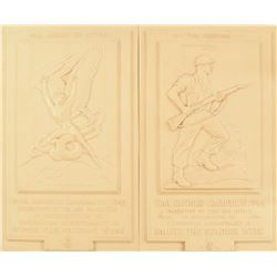 WWII British War Savings Bonds Campaign Plaques