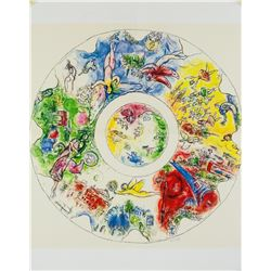 Marc Chagall French Plate Signed Litho 1960-1969