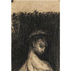 Odilon Redon Post-Impressionist Charcoal on Paper