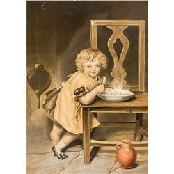 """George Baxter Litho From """"Children"""" Series"""